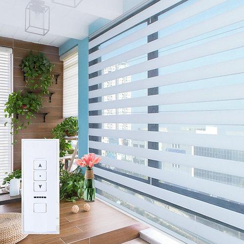 電動柔紗簾 Motorized Soft Sheer Curtain