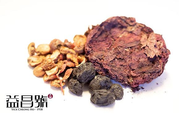 紫背天葵山楂茶