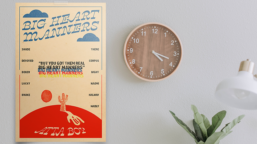 Big Heart Manners Poster