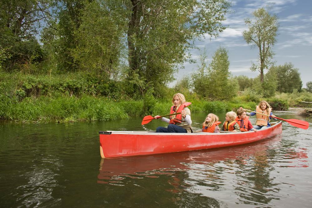 Kayaking Family