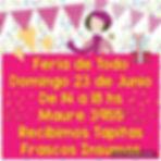 El domingo 23 se viene la Feria de Todo,