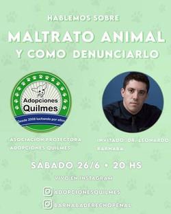 CHARLA MALTRATO ANIMAL