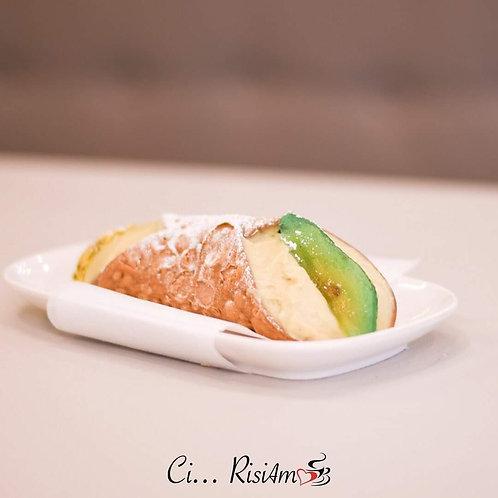 Cannolo piccolo al pistacchio