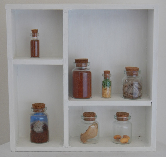 'Cabinet of curiosity' 2015                       Price: $130  assorted found objects and mini diorama