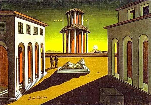 Giorgio-de-Chirico.-Piazza-dItalia.-1913