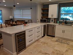 White shaker style kitchen install