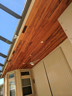 Tigerwood T&G Custom Ceiling