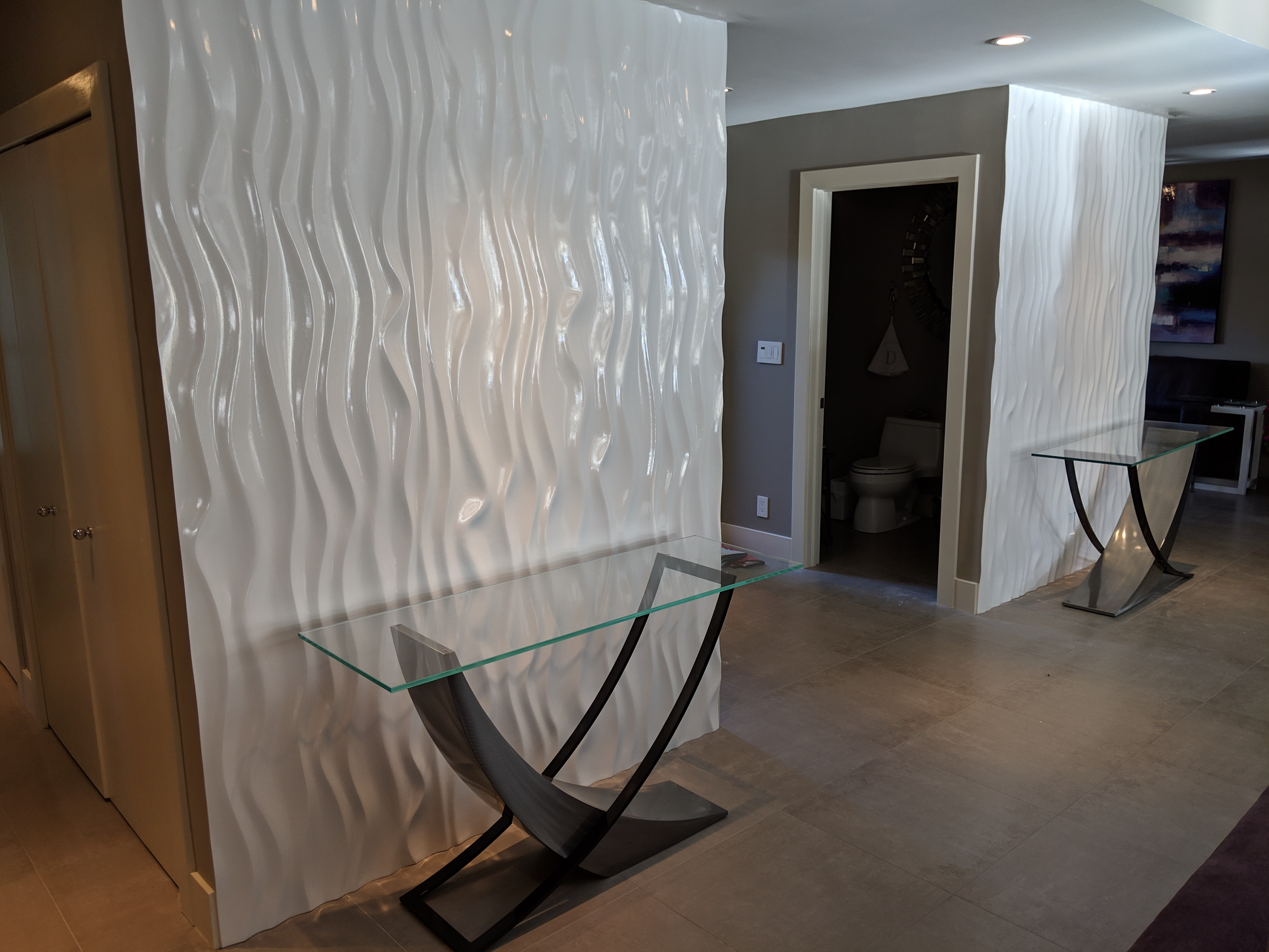 3D Wave wall panel