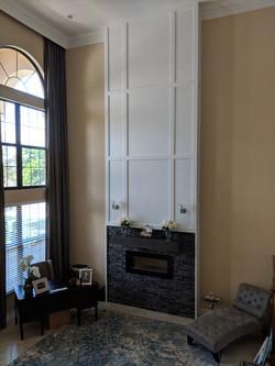 Custom built 21' Fireplace