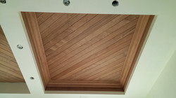 Mahogany Nickel Joint T&G Ceiling