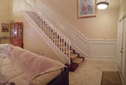 Recessed Staircase Wainscot