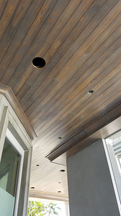 Cypress T&G Patio Ceiling