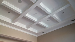 Exposed Box Beam Ceiling with Crown
