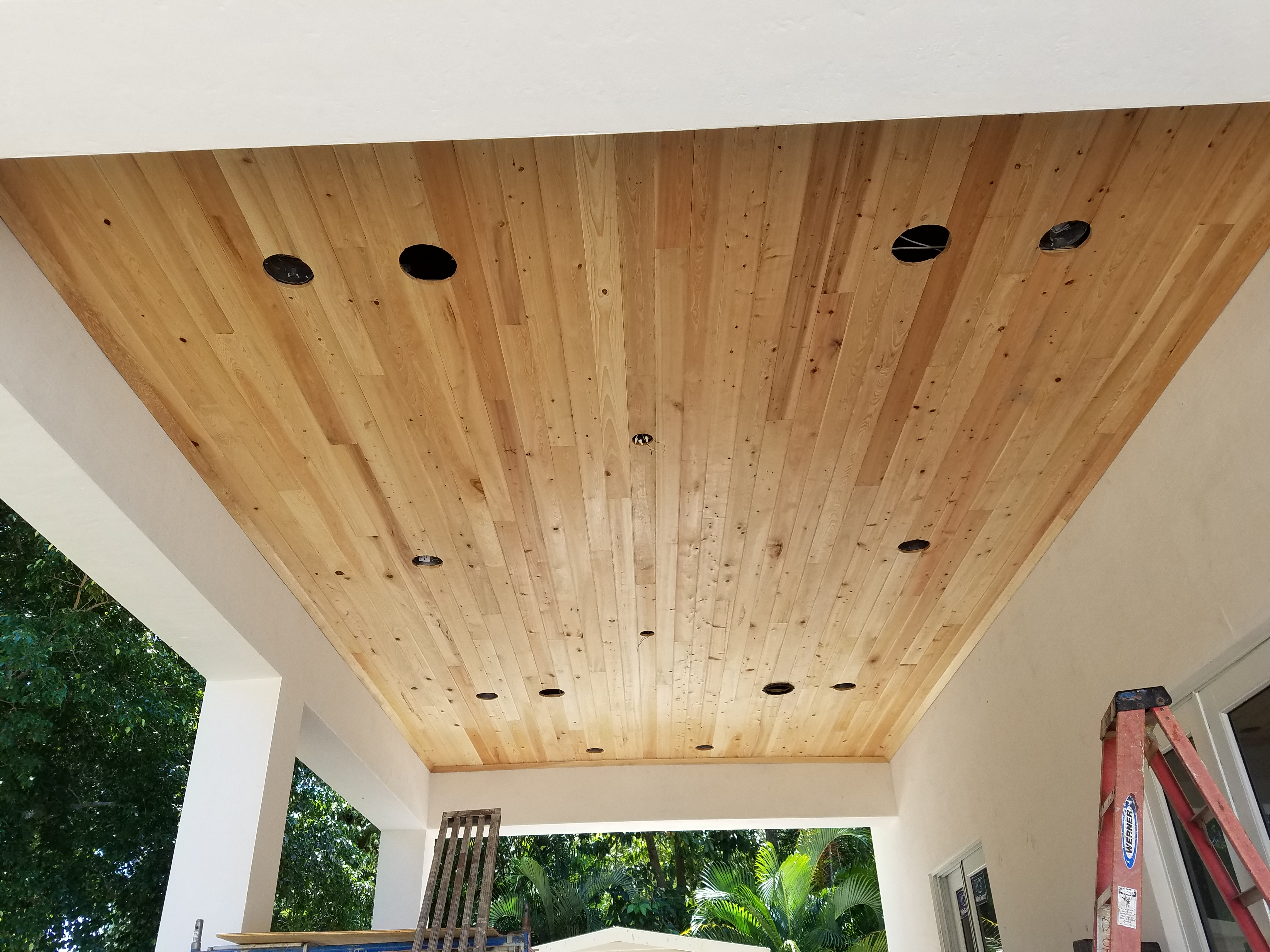 Cypress T&G Ceiling