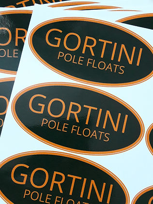 GORTINI pole floats logo decal sticker