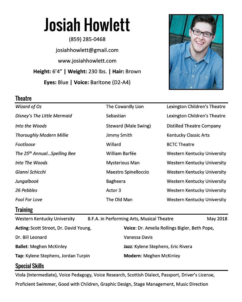Josiah Howlett Resume