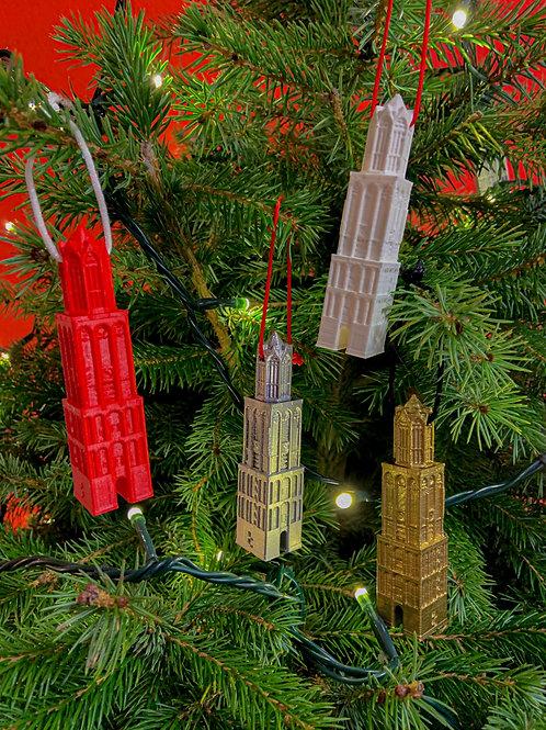 Kerstbal Domtoren Utrecht - kerstboomhanger 3D geprint