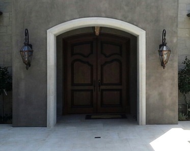 Main Entry Arched Double Door