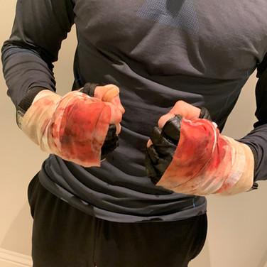 breaking down for films- hand wraps.JPG