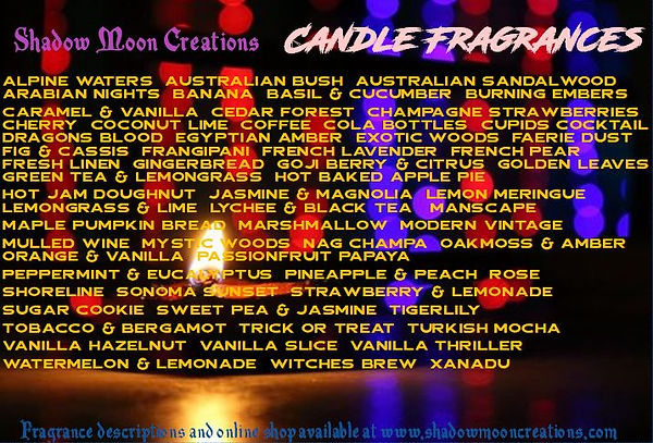 SMC new candle fragrances poster october