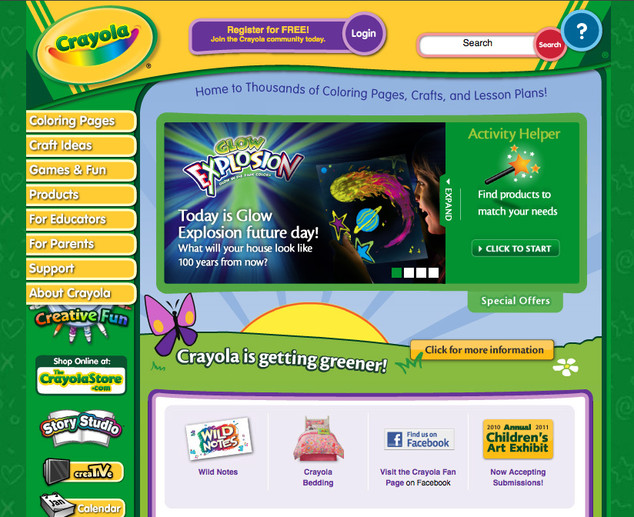 Crayola activity page