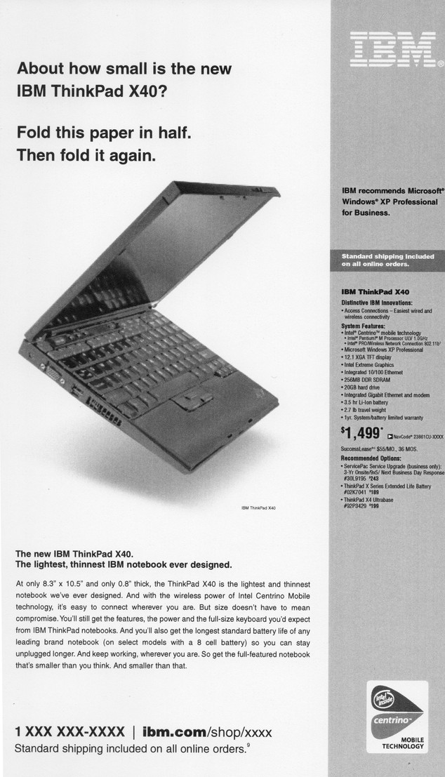 IBM Newspaper ad
