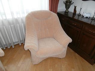 Замена обивики на кресле