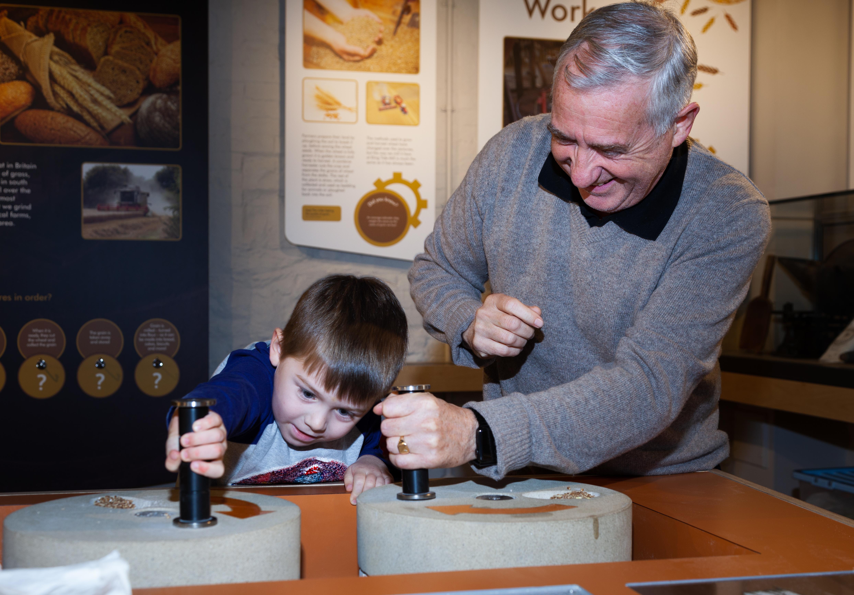 Paul & Grandson Quern Stones 1