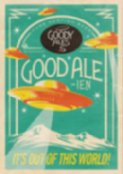 Sand Creative Goody Ales Good Ale-ien Poster