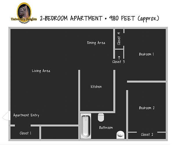 2-Bedroom, floorplan