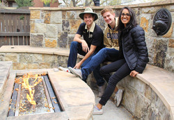 Fire pit Group of Students