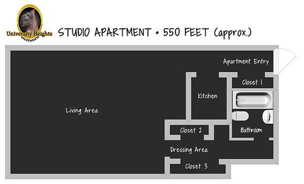 Studio Apartment Floorplan