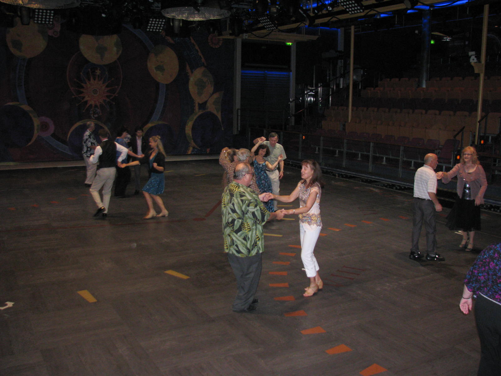 Enjoying the Large Dance Floor