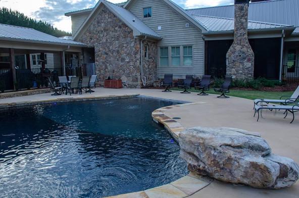 Pool Build Jump Rock