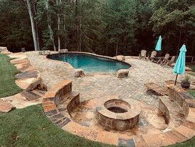 Fire Pit & Pool Build
