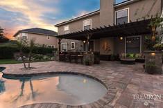 Pool Build Sunset
