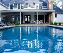 White house pool build