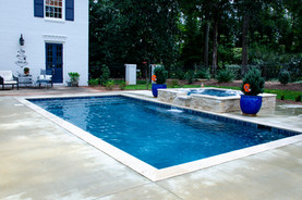 Pool Build with Overflow Spa, Side