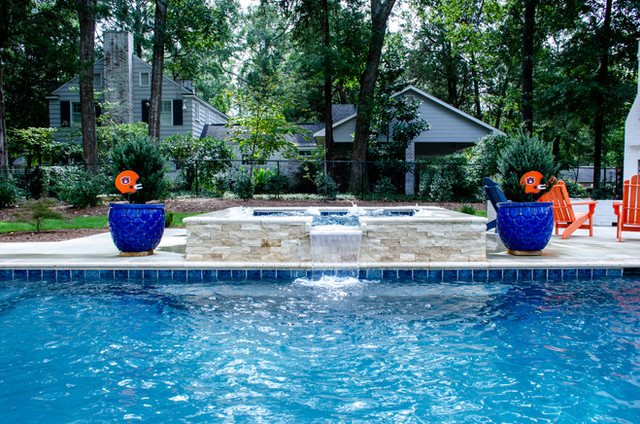 Pool Build with Overflow Spa