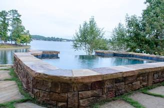 Pool Build Overflow, Lake, Top View