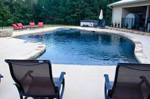 Pool Build with Caldera Hot Tub