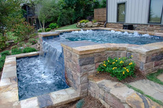 Pool Build Overflow, Lake, Front, Side