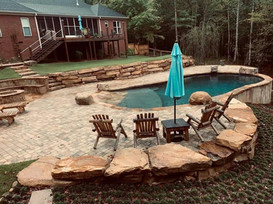 Fire pit and pool build