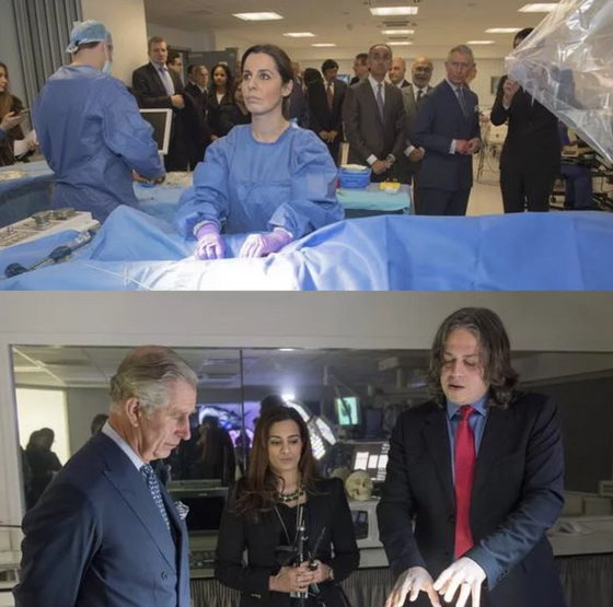 HRH Prince Charles visited Imperial College/St Mary's and was demonstrated the Orcamp experience