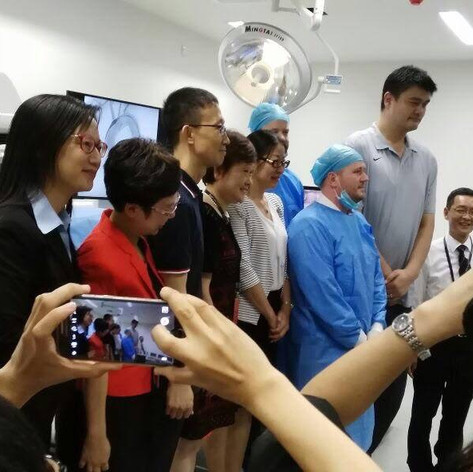 Inauguration in China with sport star Yao Ming