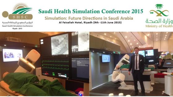 Saudi HealthSimulation Conference in Riyadh.