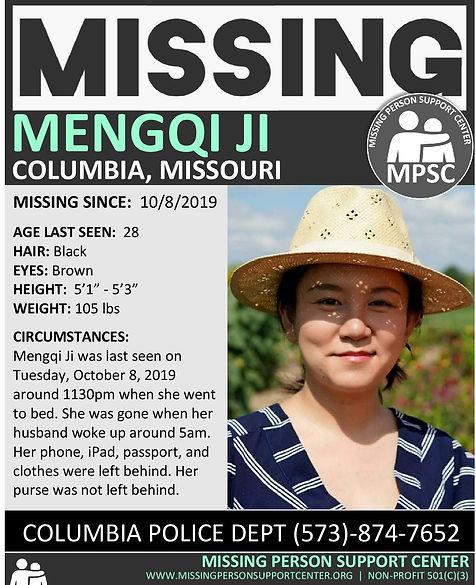 Mengqi Ji Elledge Missing Missouri