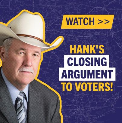 Hank Gilbert Campaign Facebook Ad