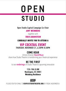 Studio Donor Event Invitation