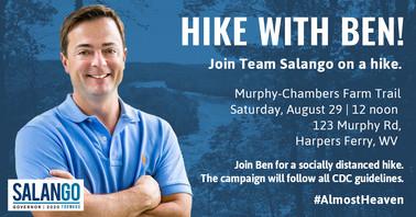 Ben Salango Hiking Event Graphic